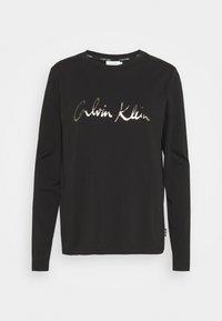 Calvin Klein - SIGNATURE - Top sdlouhým rukávem - black - 4