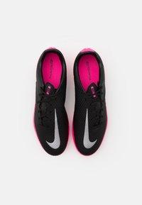 Nike Performance - PHANTOM GT ACADEMY FG/MG - Moulded stud football boots - black/metallic silver/pink blast - 3