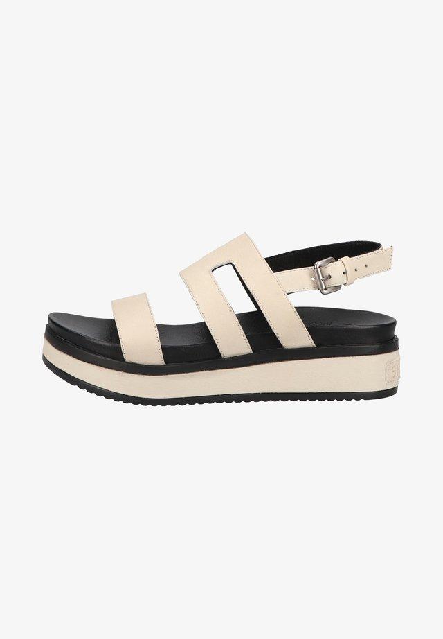 Sandały na platformie - offwhite