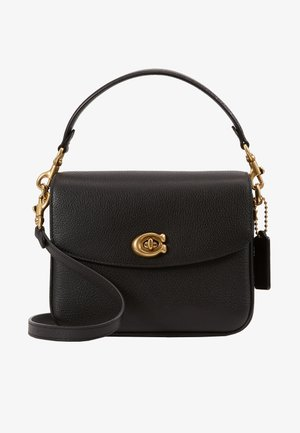 POLISHED PEBBLED CASSIE CROSSBODY - Handbag - black