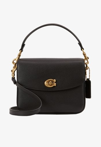 POLISHED PEBBLED CASSIE CROSSBODY - Handbag - black