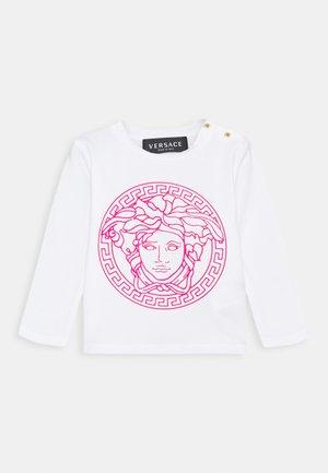 MAGLIETTA MANICA LUNGA UNISEX - T-shirt à manches longues - bianco/fuxia