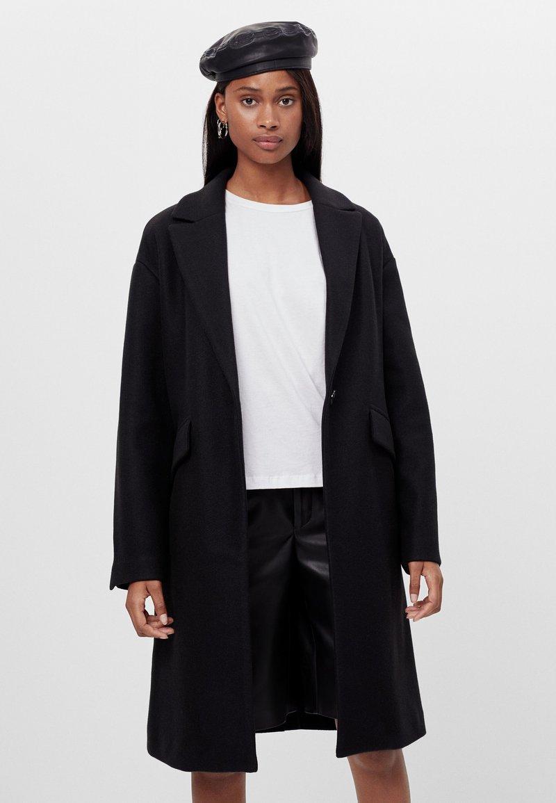 Bershka - Classic coat - black