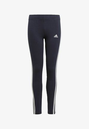 ADIDAS ESSENTIALS 3-STRIPES LEGGINGS - Tracksuit bottoms - blue