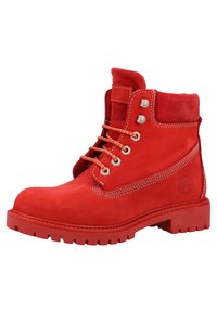 Darkwood - Platform ankle boots - red - 2