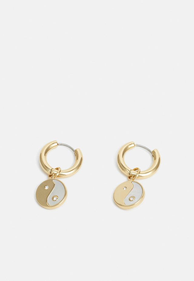 YIN-YANG HUGGIE HOOP - Earrings - gold-coloured
