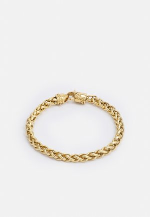 SQUARE CHAIN WITH ADORNED LOBSTER CLASP LOCK - Pulsera - gold-coloured