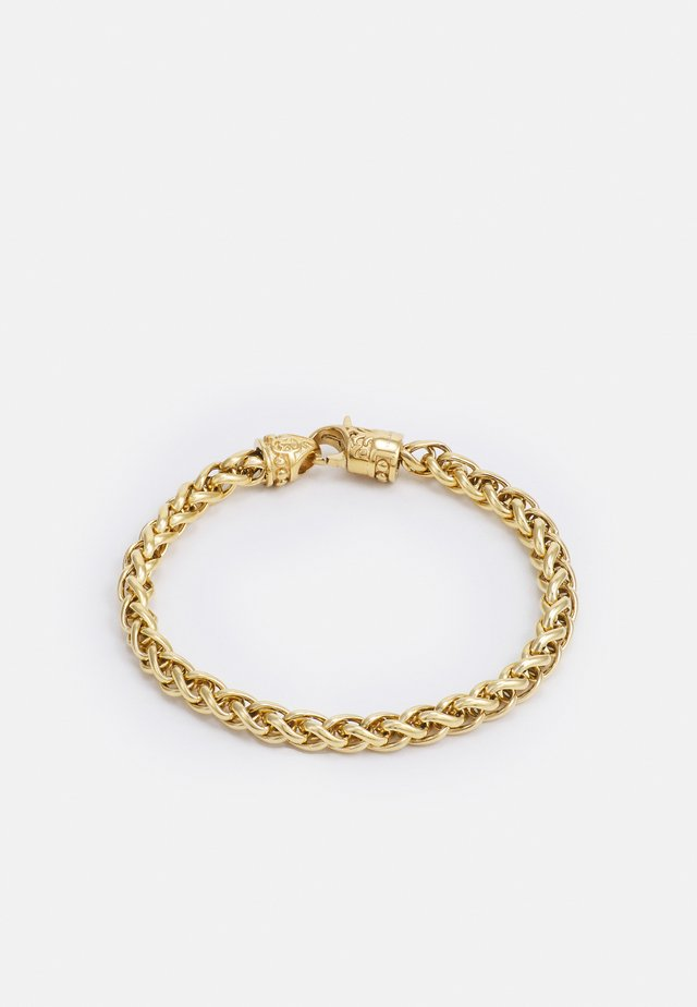 SQUARE CHAIN WITH ADORNED LOBSTER CLASP LOCK - Bracciale - gold-coloured