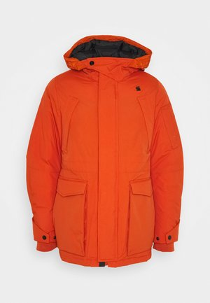 EXPEDIC+ HOODED DOWN - Donsjas - hide nylon wr - royal orange
