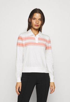 ONLINCBEATESTRIPE TEE - Polo shirt - cloud dancer/rosette