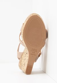 New Look Wide Fit - WIDE FIT POSSUM WEDGE - High heeled sandals - oatmeal - 6