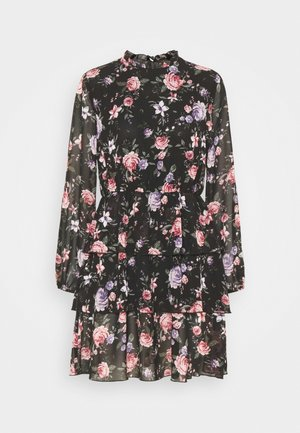 ONLVIVIAN FLOWER FRILL DRESS - Kjole - black