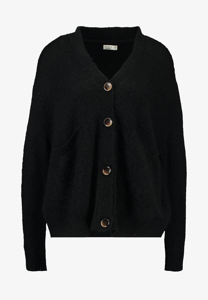 Cotton On KATE BRUSHED CARDI - Strickjacke - black/schwarz eXWnmV