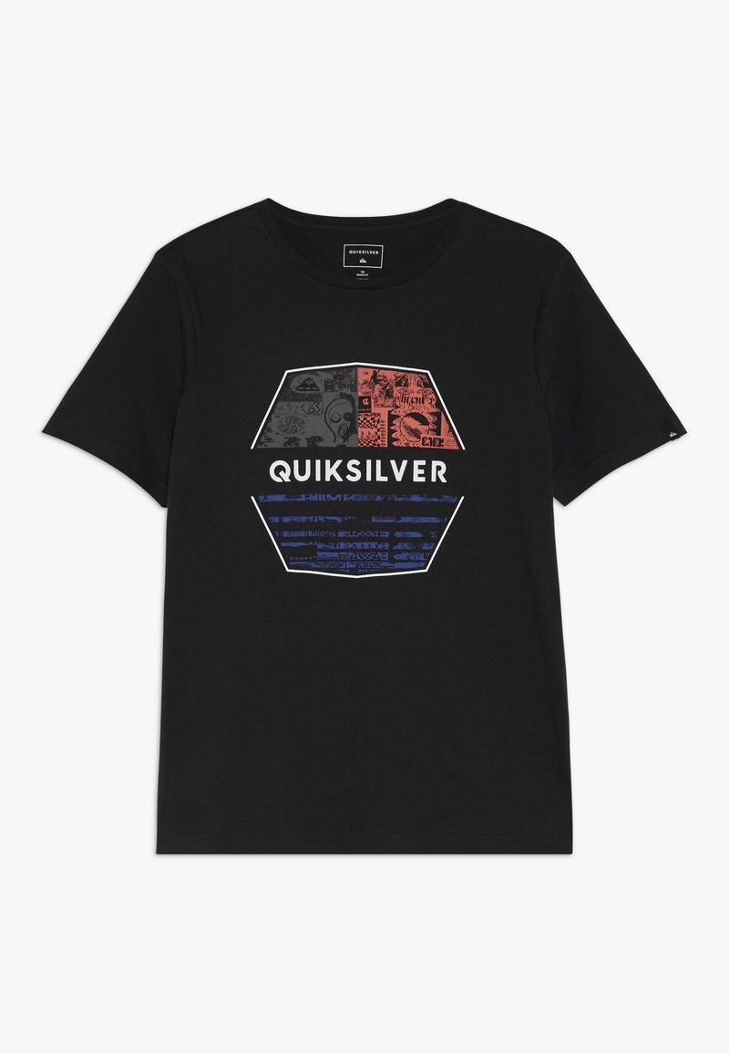 Quiksilver - DRIFT AWAY - Printtipaita - black