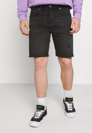 ATHLETIC MOVE FREE CUTOFF CUFFED - Denim shorts - black