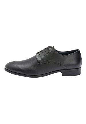 TAN ROUND TOE DERBY SHOES - Veterschoenen - black