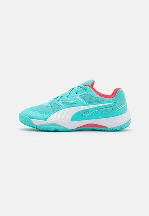 SOLARFLASH JR UNISEX - Handball shoes - elektro aqua/sunblaze/white