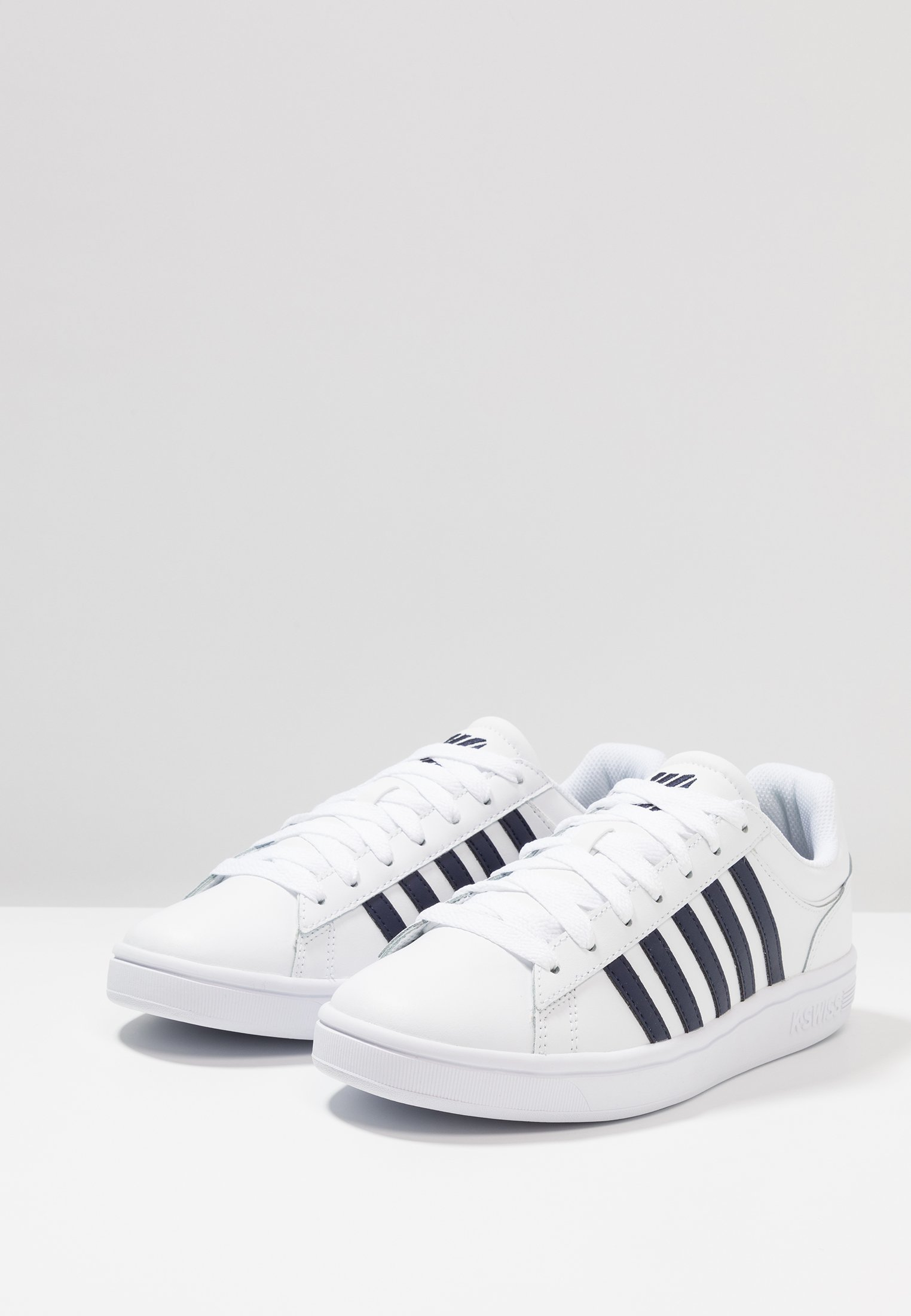 K-SWISS COURT WINSTON - Sneaker low - white/navy/weiß - Herrenschuhe 3ULhB