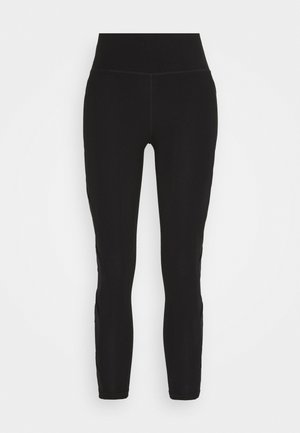 HIGH WAIST LEGGING CRISSCROSS SIDE BANDS - Tights - black
