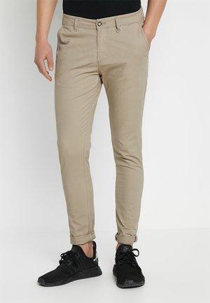 JJLIAM JJCALEB - Chino kalhoty - beige