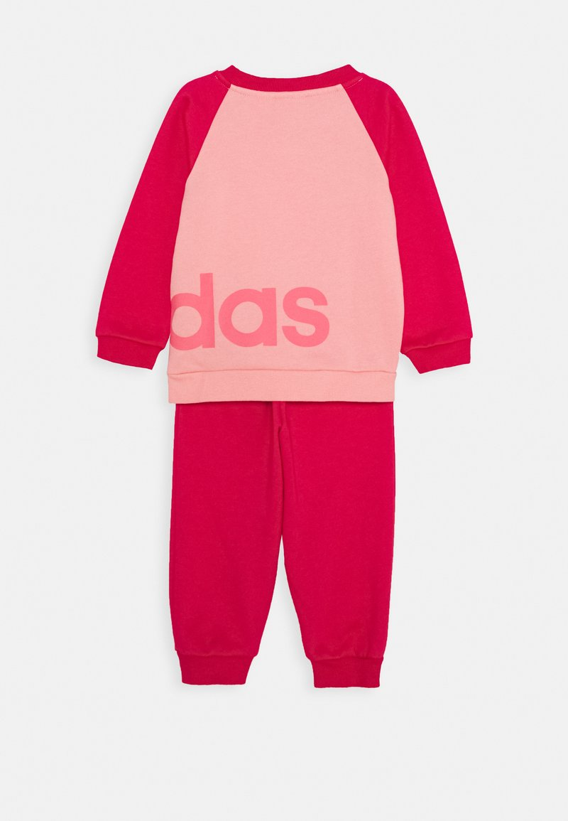 adidas Performance - ESSENTIALS SPORTS SET UNISEX - Chándal - glow pink/power pink/signal pink
