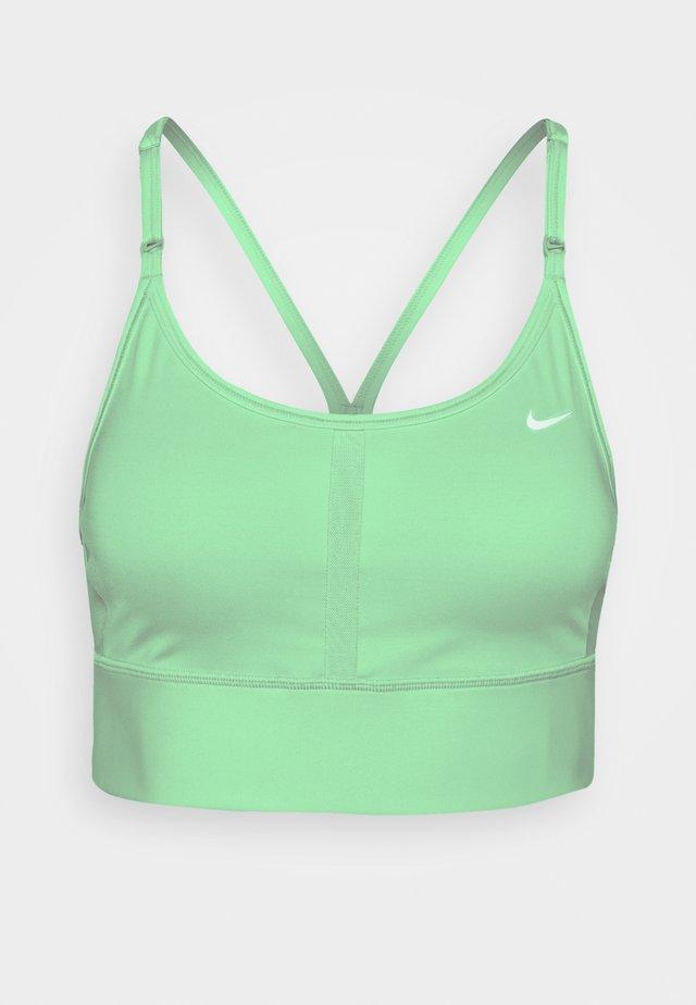 INDY BRA - Light support sports bra - green glow/white