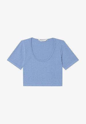 T-shirts basic - mottled blue