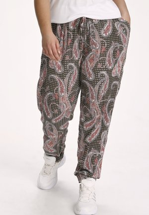 AMI  - Trousers - grape leaf paisley print