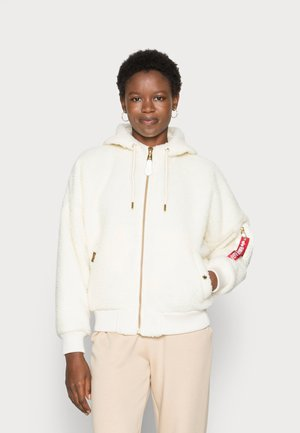 HOODED TEDDY - Winter jacket - off white