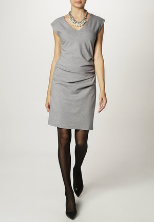 INDIA V NECK DRESS - Etuikjoler - grey melange