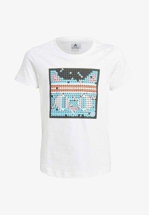 ADIDAS X LEGO® DOTS™ GRAPHIC T-SHIRT - T-shirt imprimé - white