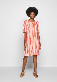 Barbara Lebek - Day dress - coral/ orange/ taupe - 0