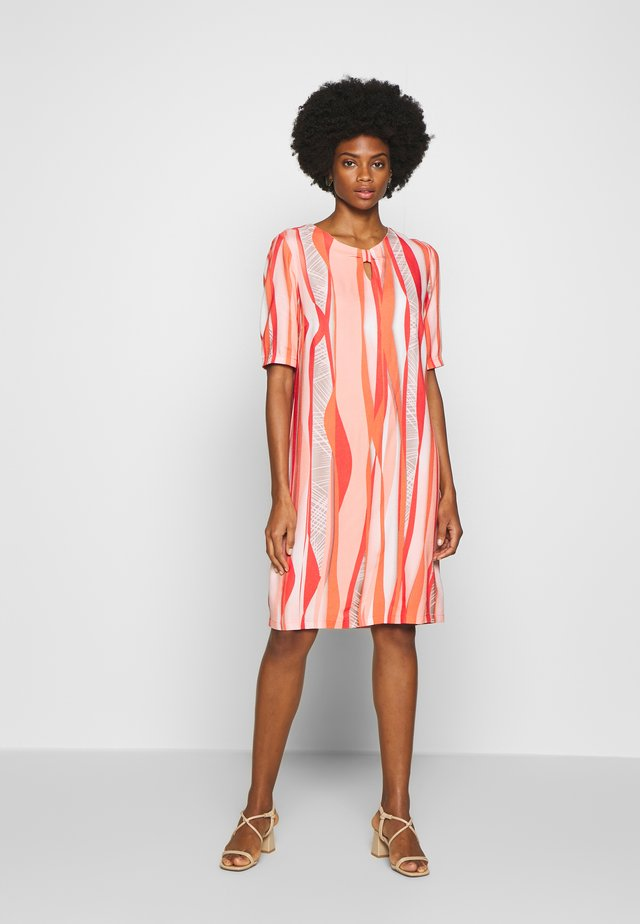 Day dress - coral/ orange/ taupe