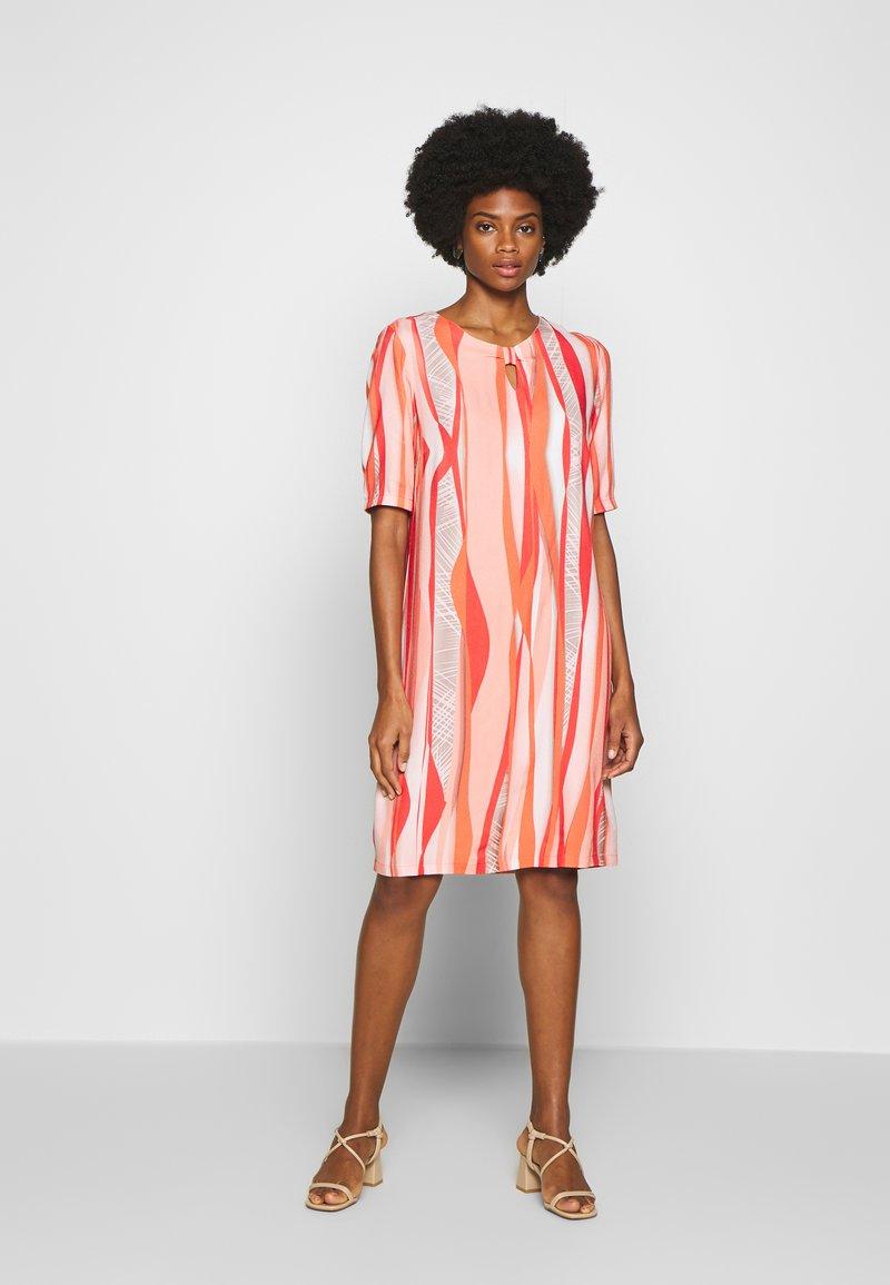 Barbara Lebek - Day dress - coral/ orange/ taupe