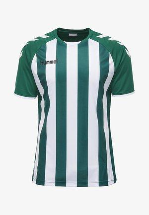 CORE STRIPED - Strój drużynowy - evergreen/white