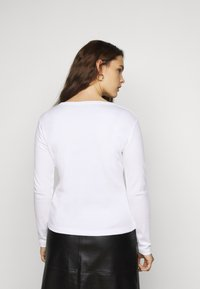 Missguided Plus - NOTCH NECK TEE 2 PACK - Long sleeved top - white - 2