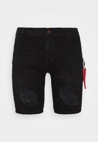 SIKSILK - Denim shorts - washed black - 3