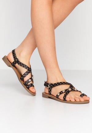 GIORGIE - Flip Flops - brown/ocra