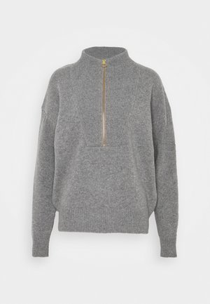Strikpullover /Striktrøjer - grey heather melange