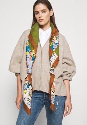 COLOR BLOCK PAINTED FLORAL OVERSIZED SQUARE - Šátek - multicoloured