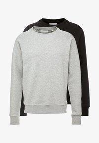 2 PACK - Sweatshirt - mottled light grey/black