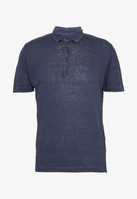 120% Lino - Polo shirt - dark blue fade - 5