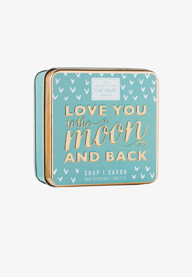 LOVE YOU TO THE MOON   BACK SOAP IN A TIN 100 G - Soap bar - -