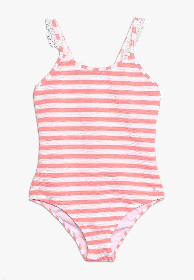GIRLS FRILL STRAP SWIMSUIT - Badpak - sherbert pink