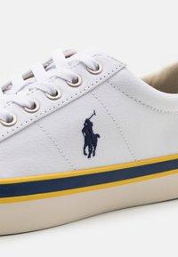 Polo Ralph Lauren - SAYER - Sneakers laag - white/newport navy - 5