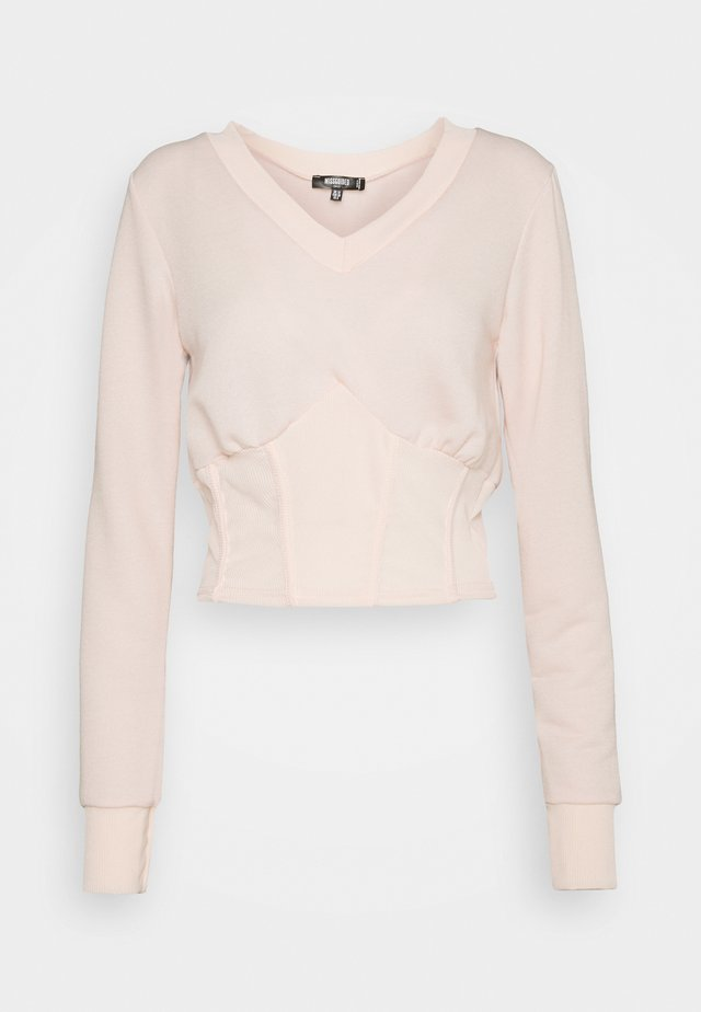 TALL CORSET - Pullover - baby pink