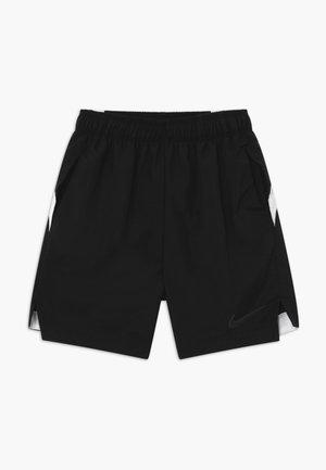 WOVEN - Sports shorts - black/white