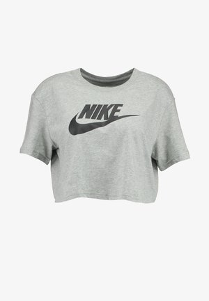TEE - T-shirts med print - grey heather/black