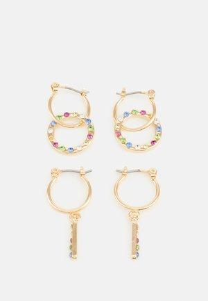 PCSANNE EARRINGS 2 PACK - Earrings - gold-coloured/multi