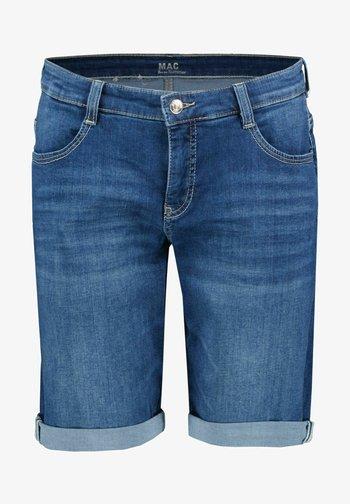 Denim shorts - blueblack